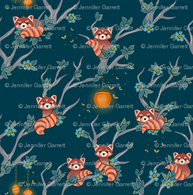 Red Pandas at Night small scale