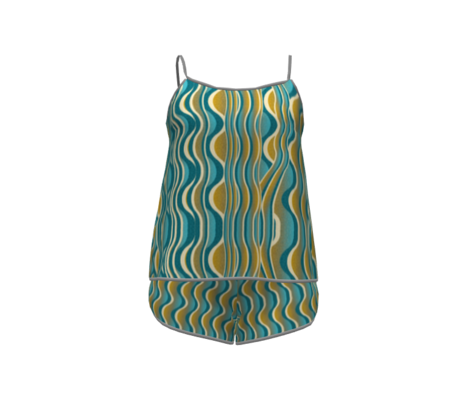 art deco waves in yellow 25