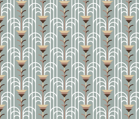 Cascade Infinie (taupe mist) fabric by jjtrends on Spoonflower - custom fabric