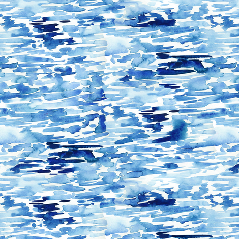 Watercolor Blue Abstract fabric by angiemakes on Spoonflower - custom fabric