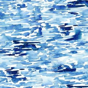 Watercolor Blue Abstract