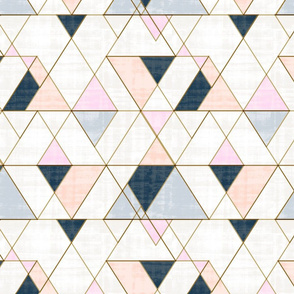 Mod Triangles Pink Peach