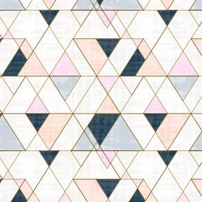 Mod Triangles Pink Peach