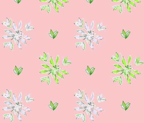 Flor Canela Rose fabric by holahappypeople on Spoonflower - custom fabric