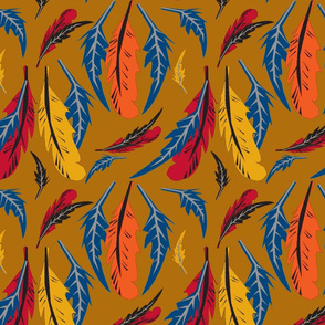 feathers amber