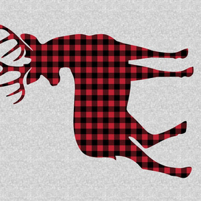 FAT QUARTER MINKY Panel - Little Man - Large Buck Blanket Woodland Themed Baby Fabric