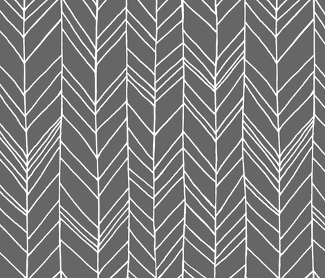 "Featherland Gray/White 20"" custom fabric by leanne on Spoonflower - custom fabric"