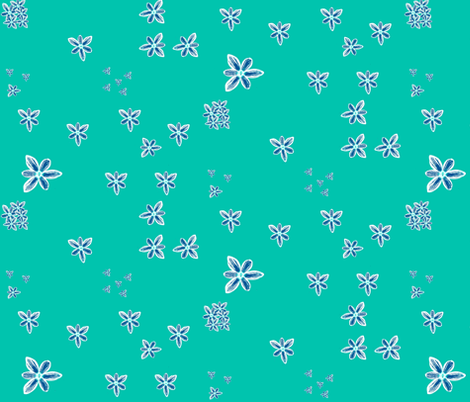turquoise crocus fabric by twigsandblossoms on Spoonflower - custom fabric
