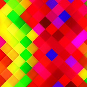 Yellow Red Green Bright Squares