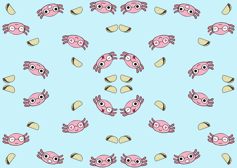 Axel the Axolotl emoji wallpaper - phornapa - Spoonflower