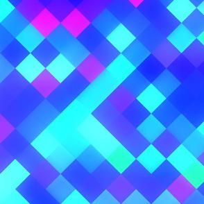 Blue Purple Bright Square Pattern