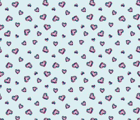Jewel hearts fabric by make_and_tell on Spoonflower - custom fabric