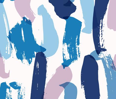 Blue Brush strokes fabric by jessica_clohesy on Spoonflower - custom fabric