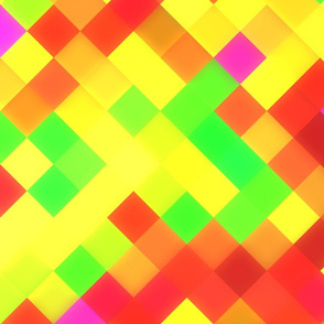 Yellow Red Bright Squares