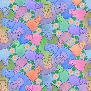 Hippo Pond - 'Sherbet' half size