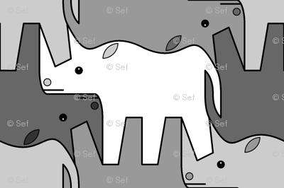 07481221 : rhinoceros 2 x4 : grey
