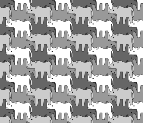 07481221 : rhinoceros 2 x4 : grey fabric by sef on Spoonflower - custom fabric
