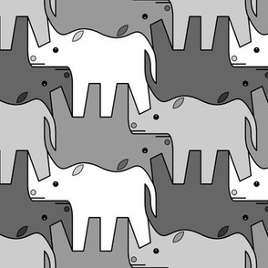 07481221 : rhinoceros 2 x4 : grey
