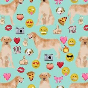 yellow lab emoji dog breed funny fabric mint