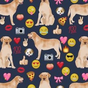 yellow lab emoji dog breed funny fabric navy