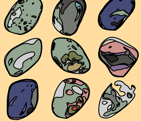 My Rock Collection fabric by ae_fresia on Spoonflower - custom fabric