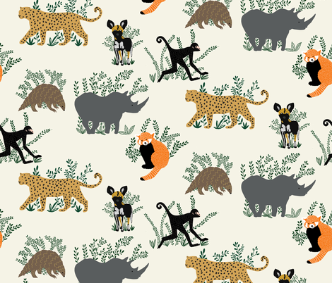 SAVE THE PLANET fabric by yasminah_combary on Spoonflower - custom fabric