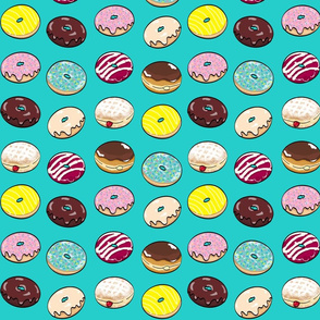 So Many Donuts in Dark Turquoise