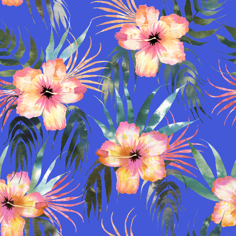 Honolua blue fabric by schatzibrown on Spoonflower - custom fabric