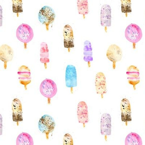 Dolce vita ice cream popsicles || watercolor sweet pattern for nursery
