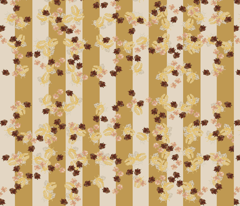 Stripey bugs Golden and cream  fabric by janetteatkinson@yahoo_co_uk on Spoonflower - custom fabric