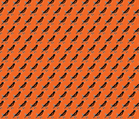 Carne-Oriole-Bird fabric by nealmoorhouse on Spoonflower - custom fabric