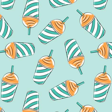 ice drink summer treat fabric orange & teal fabric by littlearrowdesign on Spoonflower - custom fabric