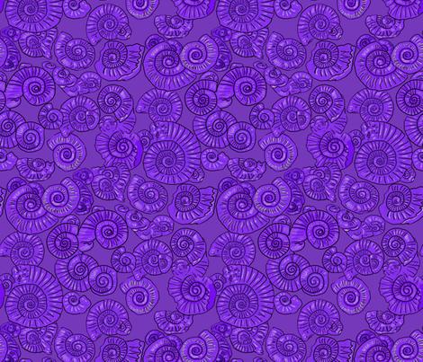 Geology Ammonites fabric by linsart on Spoonflower - custom fabric