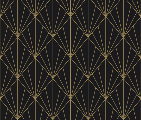 Sun Burst Gold on Charcoal fabric by anvil_studio on Spoonflower - custom fabric