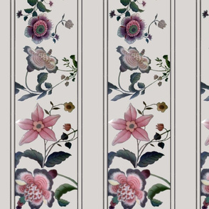 floral border cool gray