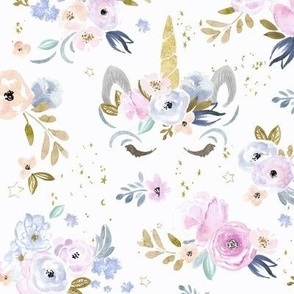 unicorn floral twilight-M