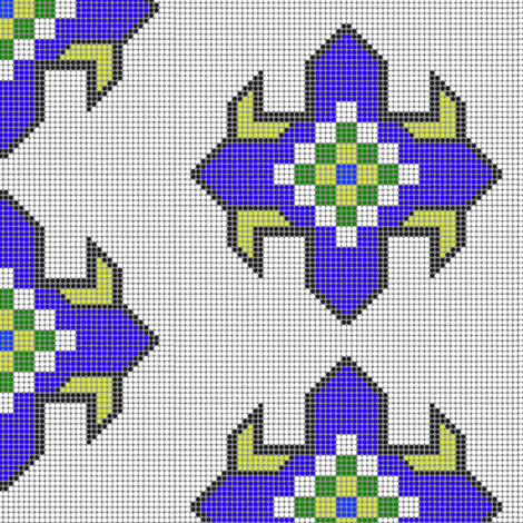 Beaded Star (Blue) fabric by david_kent_collections on Spoonflower - custom fabric