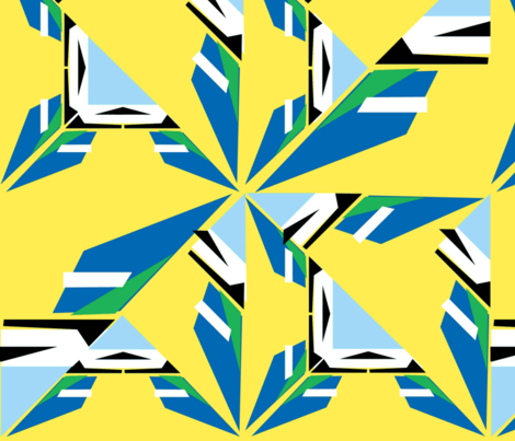 Bluetit fabric by monicagabb on Spoonflower - custom fabric