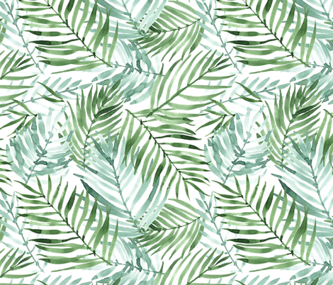 Watercolor Tropics fabric by innamoreva on Spoonflower - custom fabric