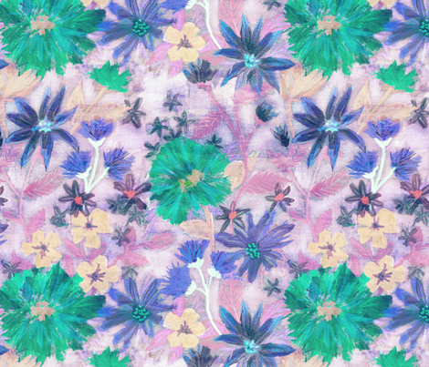Elizabeth floral pastel fabric by schatzibrown on Spoonflower - custom fabric
