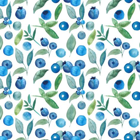 Blueberries fabric by greenmountainfabric on Spoonflower - custom fabric