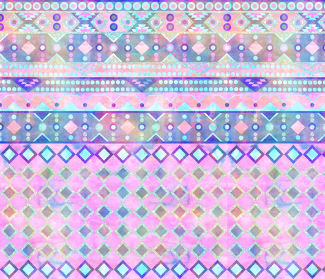 stella geo pastel fabric by schatzibrown on Spoonflower - custom fabric
