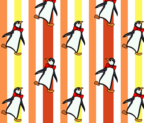 Jolly Holiday Penguins 08 fabric by lowa84 on Spoonflower - custom fabric