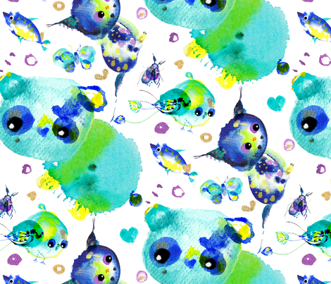 spoonflower-endangered-150 fabric by little_laughing_studio on Spoonflower - custom fabric