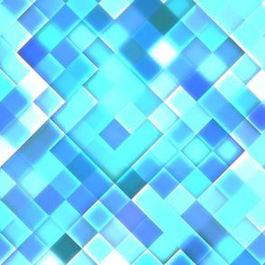 Sky Blue Bright Squares