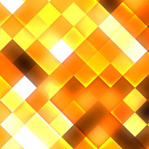 Golden Yellow Bright Squares Pattern