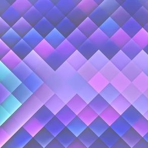 Indigo Violet Bright Squares Pattern