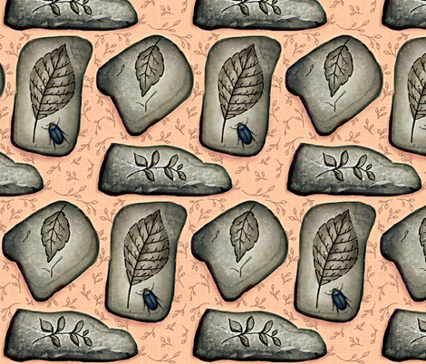 Making a Good Impression / Fossil-n-Linen fabric by franbail on Spoonflower - custom fabric