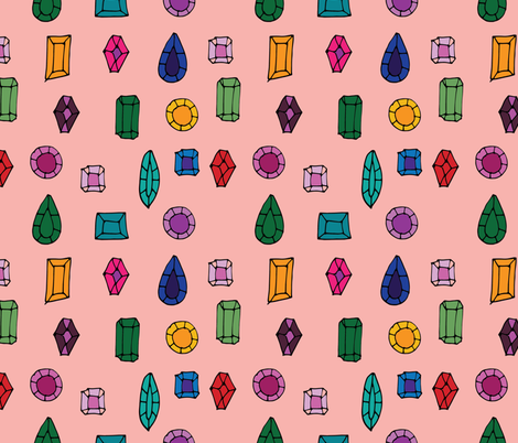 Gemstone fabric by bruxamagica on Spoonflower - custom fabric