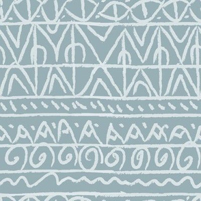 tribal light blue and white